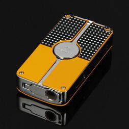 COHIBA Yellow Classic 3 Torch Jet Flame Cigar Lighter W/ Pun
