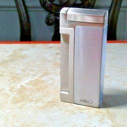 Colibri Quantum  triple Jet Flame silver  Lighter built in p