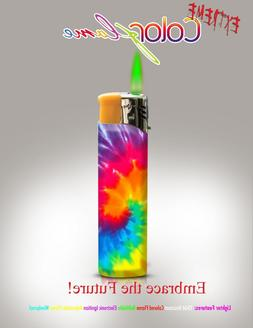 Color Flame Fire Butane Colorflame Colorful Torch Lighter Gr