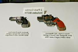Combo Extra Large .357 Magnum and Medium Size Gun Shape Jet