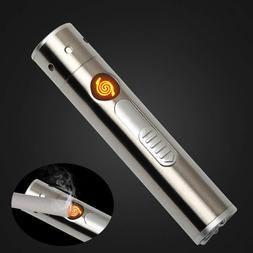 Cool 2in1 Laser Flame-less Windproof Lighter USB Rechargeabl