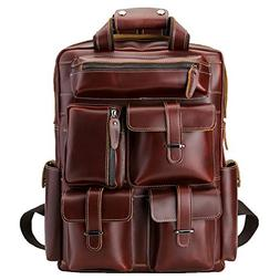 Polare Cool Cowhide Leather Multiple Backpack Day pack Trave