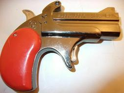 COPPER  FINISHED DERRINGER PISTOL TORCH LIGHTER/RED LASER PO