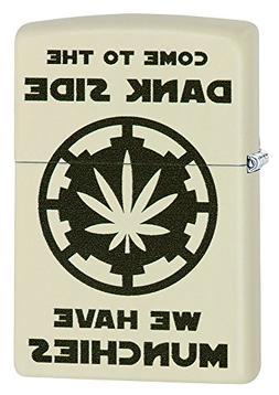 Zippo Cream Matte Dank Side Pocket Lighter