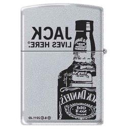Zippo Custom Ligher - Jack Daniels Lives Here, Satin Chrome,