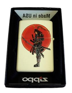 Zippo Custom Lighter - Japanese Warrior Samurai w Bloody Swo