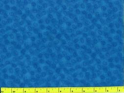 Dark Blue Spiral Curls on Lighter Blue Quilting Fabric by Ya