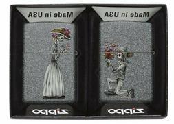 Zippo Day Of Dead Skulls Lighter Set, Iron Stone #28987
