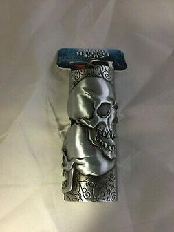 Mystic Double Skull Pewter Lighter Case Cover New compatible