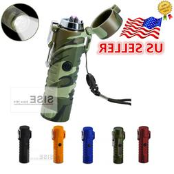 Dual Arc Electric Plasma Lighter with LED Flashlight for Cam