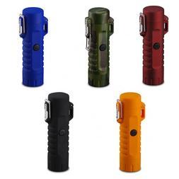 Dual Arc Plasma Electric Flameless Lighter & LED Flashlight