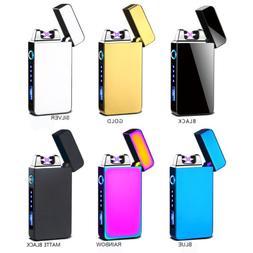 Dual Arc Plasma Electric Lighters Flameless Windproof USB Re