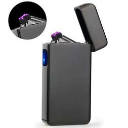 Dual Arc Plasma Lighter USB Rechargeable Windproof Flameless
