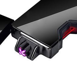 Dibikou Dual Arc Plasma Lighter USB Rechargeable Windproof F