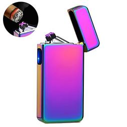 lcfun Dual Arc Plasma Lighter USB Rechargeable Windproof Fla