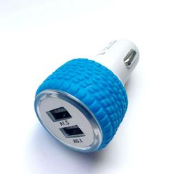 Dual USB 3.1A Rubber Car Charger Adapter Cigar Lighter for S