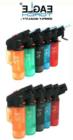 1 or 2 Pcs Eagle Jet Double Torch Gun Lighter  Adjustable Fl