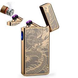 lcfun Dual Arc Plasma Lighter USB Rechargeable Windproof Fla