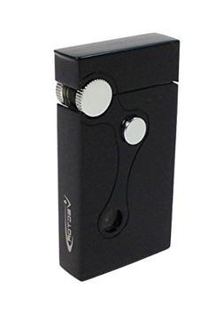 VECTOR Elite Black Matte Dual Flame Flint Cigar Lighter Torc