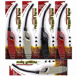 Elite Multi purpose Long Fire Lighters 3 Pack Fireplace BBQ Jet Flame Windproof