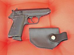 EXTRA Large Walther PPK Gun Shaped Jet Torch Lighter With Ho