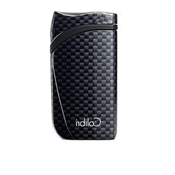 Colibri Falcon Single Jet Lighter - Black Carbon Fiber Print