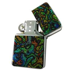 Fashion Fish - Refillable Flip Top Silver Lighter