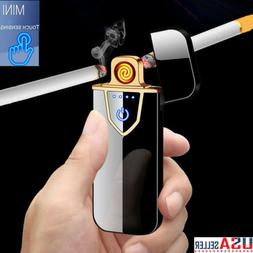 Fingerprint Touch Electric Lighter USB Rechargeable Dual Arc