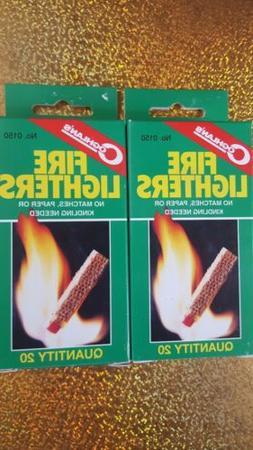 Fire Lighters Starters 40 Coghlan 2 Box's  Fire Starters