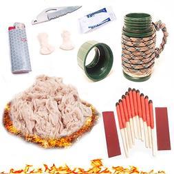 Front Range First Defense Fire Starter Kit Match Case with U