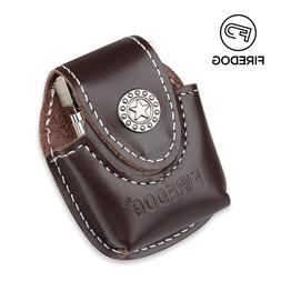 Firedog Fliptop Genuine Leather <font><b>Lighter</b></font>