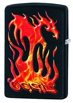 Zippo Flaming Dragon Design Pocket Lighter