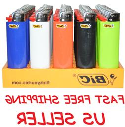 Full Size Big BIC Lighters Multi Purpose Assorted Color Flin