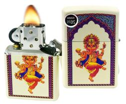 Zippo Ganesha Pocket Lighter, Cream Matte