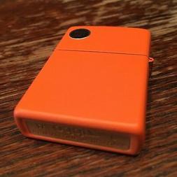 Genuine Zippo classic orange matte windproof Lighter CASE ON