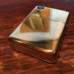 Genuine Zippo high polish solid brass windproof Lighter CASE