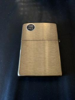 Genuine Zippo Brass windproof Lighter CASE ONLY No Insert/Bo