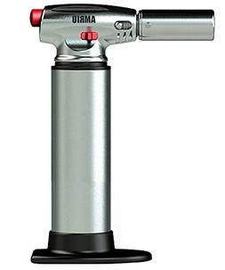 AMRIU GF-877 Micro Butane Torch Lighter, Silver - Kitchen Cr
