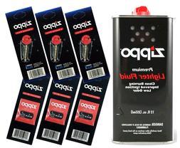 Zippo Gift Set - 12 Fl.oz Fluid Fuel and 3 Wick Card & 3 Fli