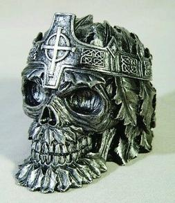 "Greenman King Skull Ashtray 4.25""L Cigarette Ash Tray Collec"