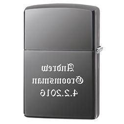 Groomsman Gift Personalized Black Ice Zippo LIGHTER - Free L