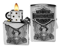 Zippo Harley-Davidson Eagle/Logo Emblem Lighter Pocket Light