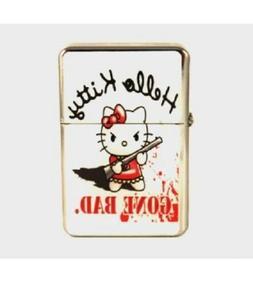 Hello Kitty Pink Flip Top Lighter Chrome Refillable Cigar Ci