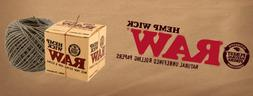 RAW HEMP WICK - 1m/4m/76m Nautural Unbleached Hemp & Beeswax