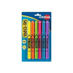 Avery Hi-liter, Pen Style, 6-Pack, Assorted
