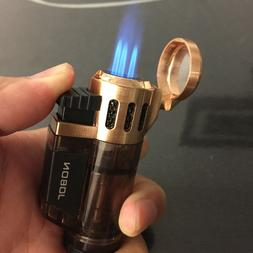 JOBON High-Capacity Triple Jet  Torch Gas Lighter for Pipe C