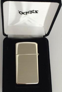 High Polished Slim Zippo Sterling Silver Lighter, Item #1500