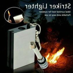 Hiking Emergency Survival Camping Fire Starter Flint Metal M