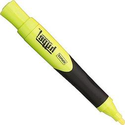 STAPLES HYPE 6 Pack Rubberized Grip YELLOW Chisel Tip Highli