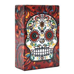IKevan Sugar-Skull-Plastic-Cigarette-Box-Holder-Pocket-Tobac